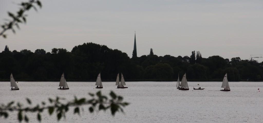 Außenalster Segelboote Hamburg